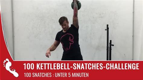 kettlebell snatches challenge kg