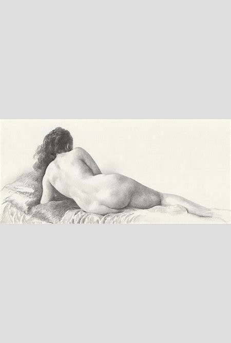 Voluptuous Reclining Nude Luxuriating On Victorian Settee After Eakins Drawing by Scott Kirkman