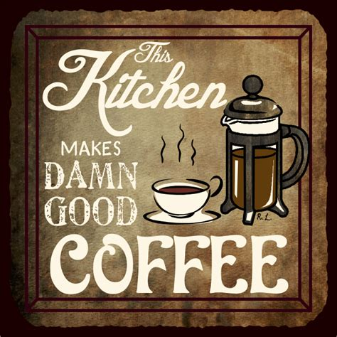 coffee signs for kitchen this kitchen makes damn coffee vintage metal cafe