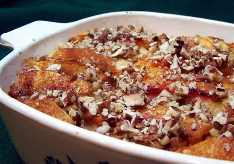 Baked Peach French Toast Recipe Food