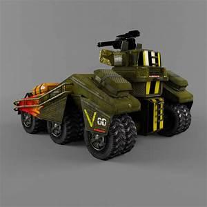 Sci, Fi, Armored, Car