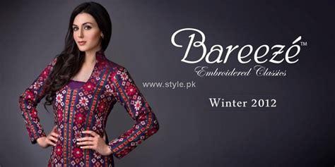 bareeze winter collection    women