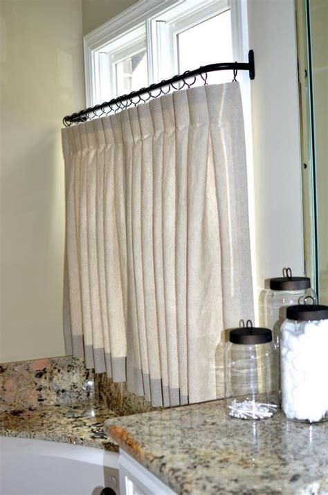 pinch pleat cafe curtains  bathroom   order