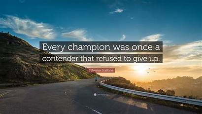 Sylvester Stallone Quotes Quote Every Contender Champion