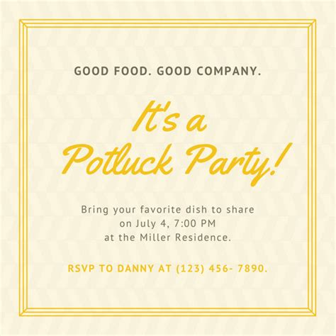 wallpapers in home interiors yellow border potluck invitation templates by canva