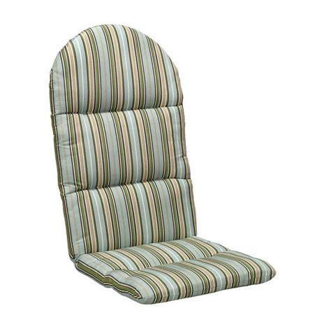 home depot patio cushions sunbrella sunbrella cilantro stripe outdoor adirondack chair cushion