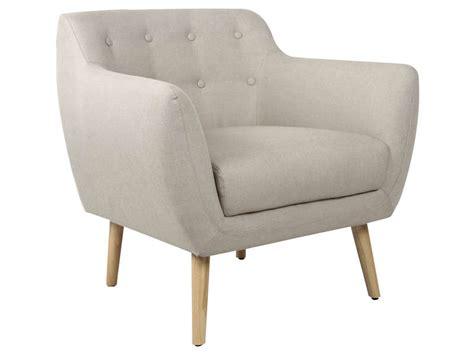 chaise de jardin conforama fauteuil en tissu stockholm coloris beige vente de