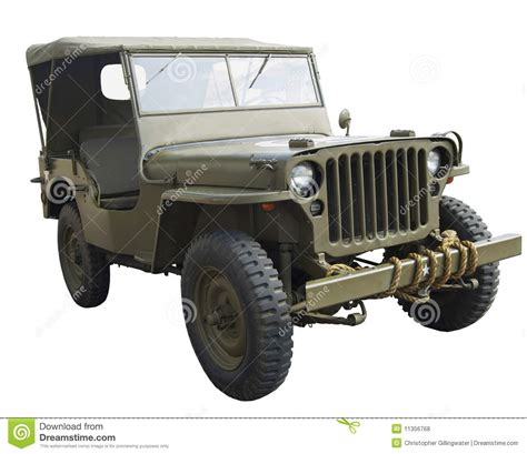 military jeep side wwii american jeep near side view stock photo image