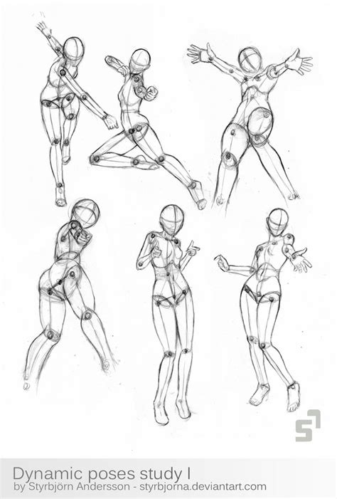 dynamic poses study   styrbjornadeviantartcom