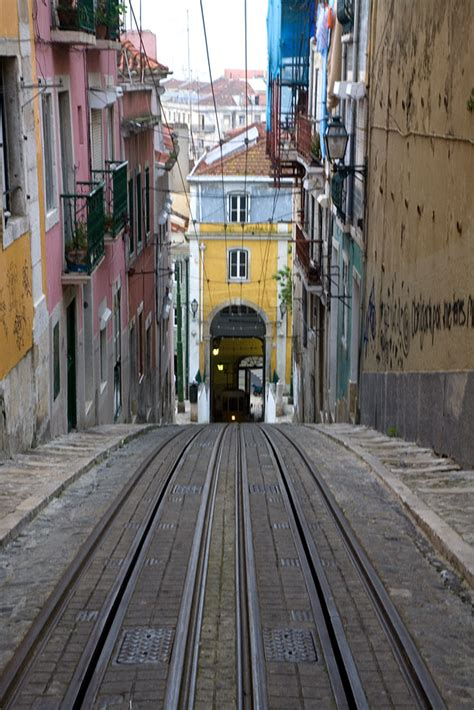 view   elevador da bica lisbon portugal travel