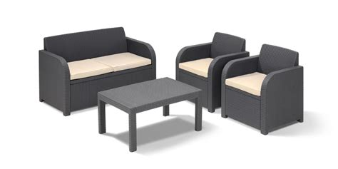 4 pieces keter carolina lounge set elegant garden