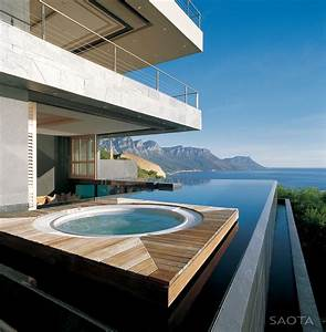 Amazing, Oceanfront, House, With, Transparent, Swimming, Pool