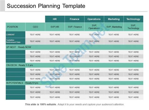 succession planning template sample  sniffer
