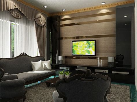 Wohnzimmer Ideen Tv Wand by Tv Feature Wall Design The Strips Of Mirrors Erases The