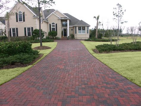 dark red  appealing pavers driveway driveway