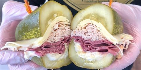 elsies sandwich shop replaces buns  giant sized pickles
