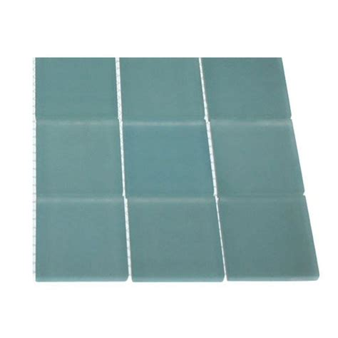 turquoise floor tile splashback tile contempo turquoise frosted glass mosaic floor and wall tile 3 in x 6 in x 8