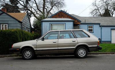 subaru wagon 1980 old parked cars 1980 subaru gl 5 wagon
