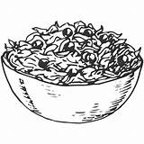 Outline Lettuce Salad Clipart Drawing Transparent Webstockreview Getdrawings Salaatit sketch template
