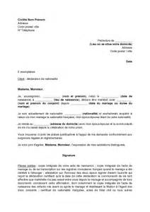 demande de nationalitã franã aise par mariage lettre de motivation nationalite employment application