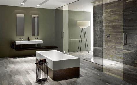 contemporary sleek bathroom pinspiration glossy tiles natural