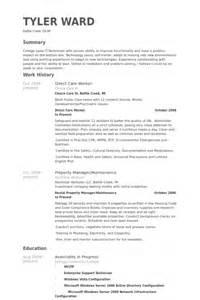 Maintenance Supervisor Resume Template Direct Care Worker Resume Sles Visualcv Resume Sles Database