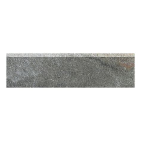 bullnose tile lowes shop style selections ivetta black slate glazed porcelain