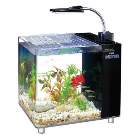 aquarium de 15 litres hidom aquarium fish tank 10 15 litre mini office desktop light filter ebay