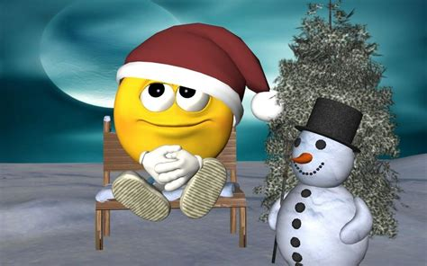 Animated Snowman Wallpaper - snowmen and snow tree animated wallpaper