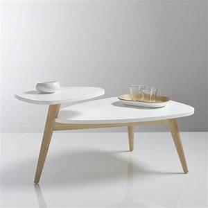 Table Basse Retro : table basse vintage double plateau jimi blanc la redoute interieurs la redoute ~ Teatrodelosmanantiales.com Idées de Décoration