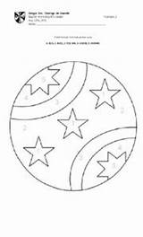 Ball Worksheet Crystal Coloring Template sketch template