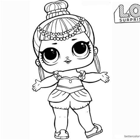 LOL Surprise Doll Coloring Pages Genie Dibujos para