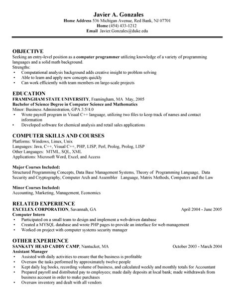 Most Important Computer Skills For Resume by Computer Skills Resume Exle