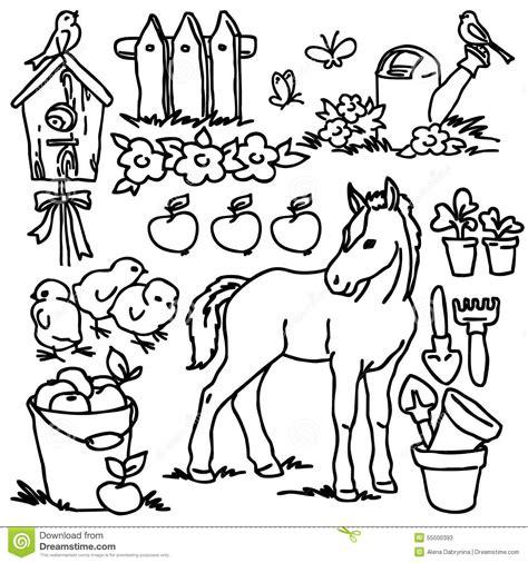 livre de coloriage animaux de ferme de bande dessinee