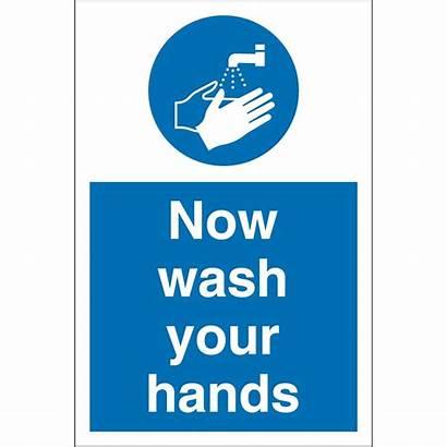 Wash Hands Signs Key Mandatory Safety