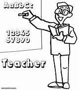 Teacher Coloring Pages Colorings sketch template