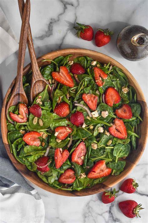 strawberry spinach salad wine glue