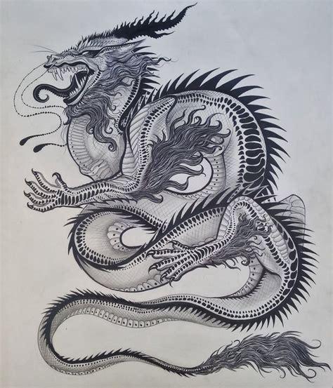 dragons  black  white  images