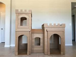 A Kid's Dream Cardboard Castle Made Out of Boxes | Brandon ...