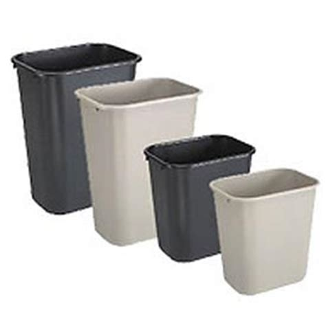 garbage  recycling deskside wastebaskets rubbermaid wastebaskets globalindustrialcom