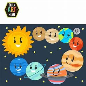 Cute Planets Clip Art Set | Daily Art Hub - Free Clip Art ...