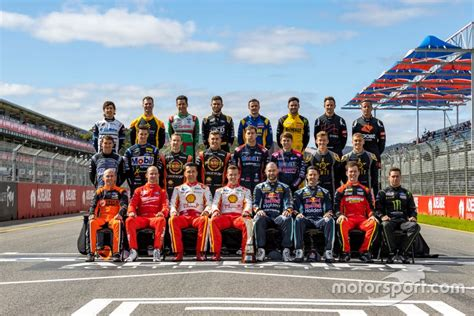 supercars drivers class photo  adelaide high res