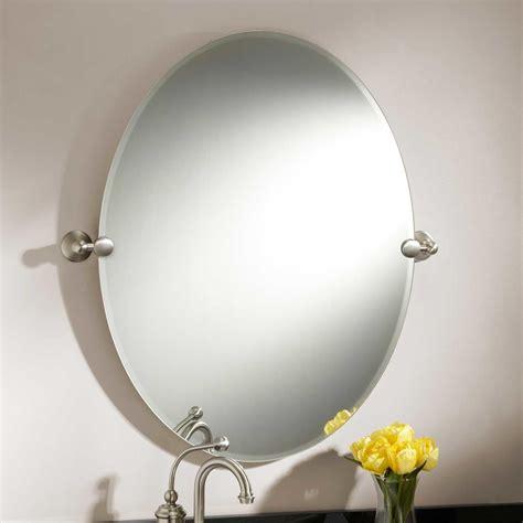 31 quot seattle oval tilting mirror bathroom