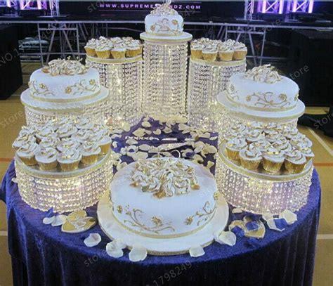usa gb au er wedding crystal transparent acrylic cake