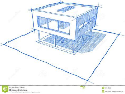 Haus Skizze Einfach by Moderne Haus Skizze Vektor Abbildung Illustration