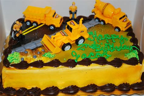 Construction Cake Decorations by I Copied That Construction Birthday Decorations