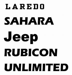 jeep rubicon font wwwimgkidcom the image kid has it With rubicon lettering