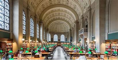 Library Boston Libraries Central National Interior Massachusetts