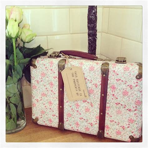 shabby chic suitcase vintage floral shabby chic suitcase pink rose