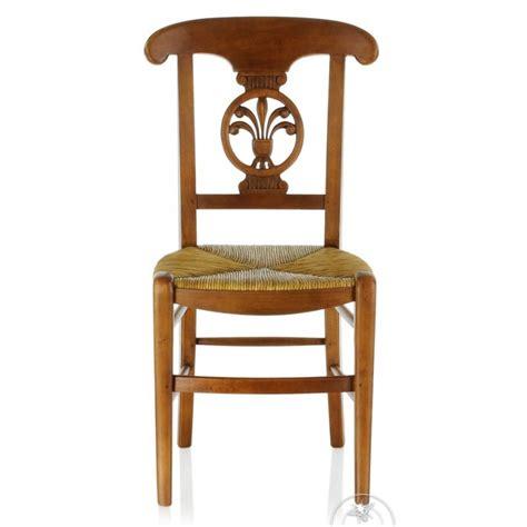 chaise ancienne bois et paille palmette saulaie